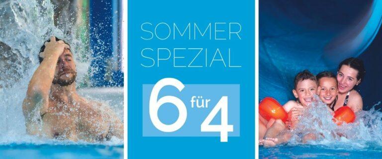 """Sommer-Spezial """"6für4"""" im Freizeitbad"""