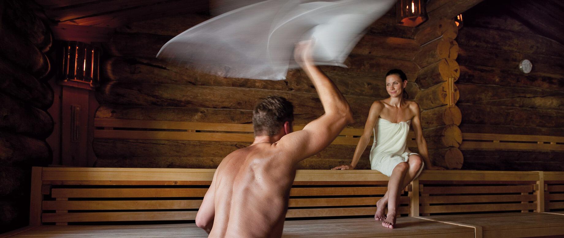 In der sauna einen steifen Mit Herzschrittmacher